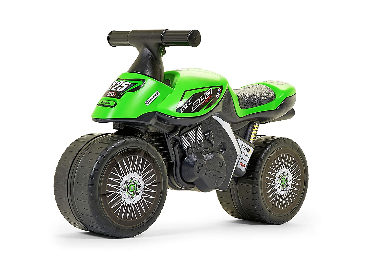Falk Kawasaki KX Bud Racing Apertura por Empuje Motocicleta - Juguetes de Montar (255 mm, 620 mm, 390 mm, 2,3 kg, 200 mm, 630 mm)