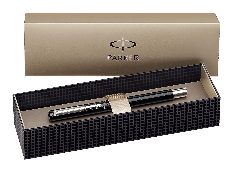 Parker - Bolígrafo de punta rodante y caja, color azul S0160090