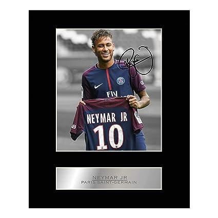 f140d12e3063f Neymar Jr Signed Mounted Photo Display Paris Saint-Germain FC
