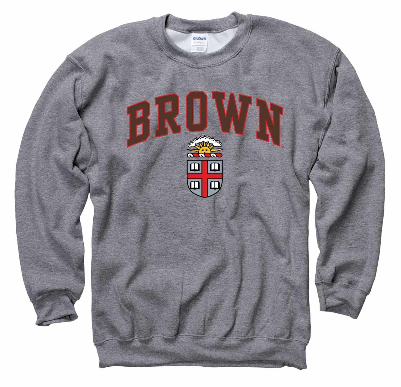 Campus Colors Brown Bears Arch & Logo Gameday Crewneck Sweatshirt - Sport Gray, Large by Campus Colors