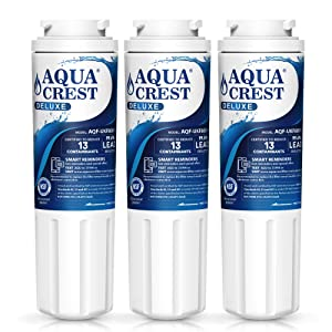 AQUACREST UKF8001 NSF 401 Certified to Reduce 99% of Lead, Pharmaceuticals and More, Compatible with Maytag UKF8001, UKF8001AXX, UKF8001P, PUR UKF8001, EveryDrop Filter 4 (Pack of 3)