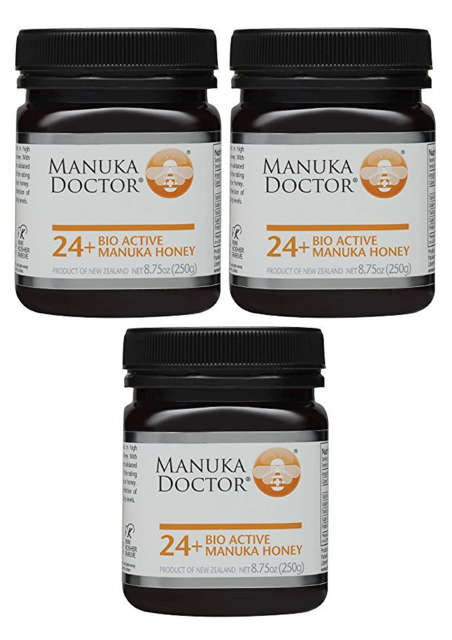 Manuka Doctor Bio Active Honey, 24 Plus, 8.75 Ounce (3 Pack)