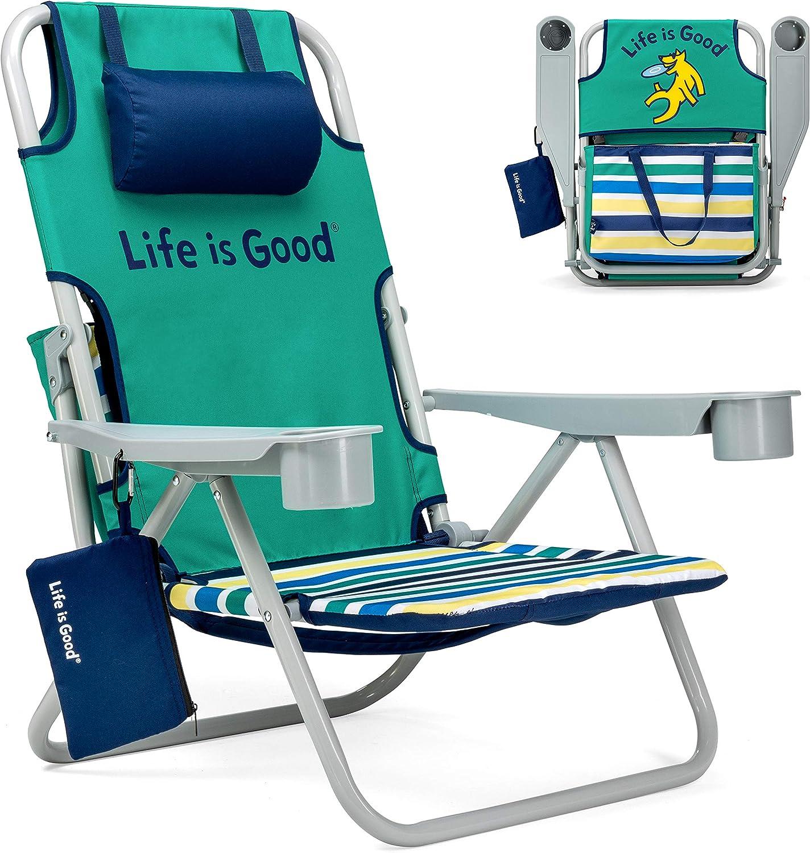 Life is Good Rocket Green Beach Chair, Short