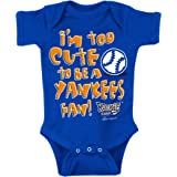 Rookie Wear By Smack Apparel NY Baseball Fans. Too Cute Royal Onesie (NB-18M) Or Toddler Tee (2T-7T)