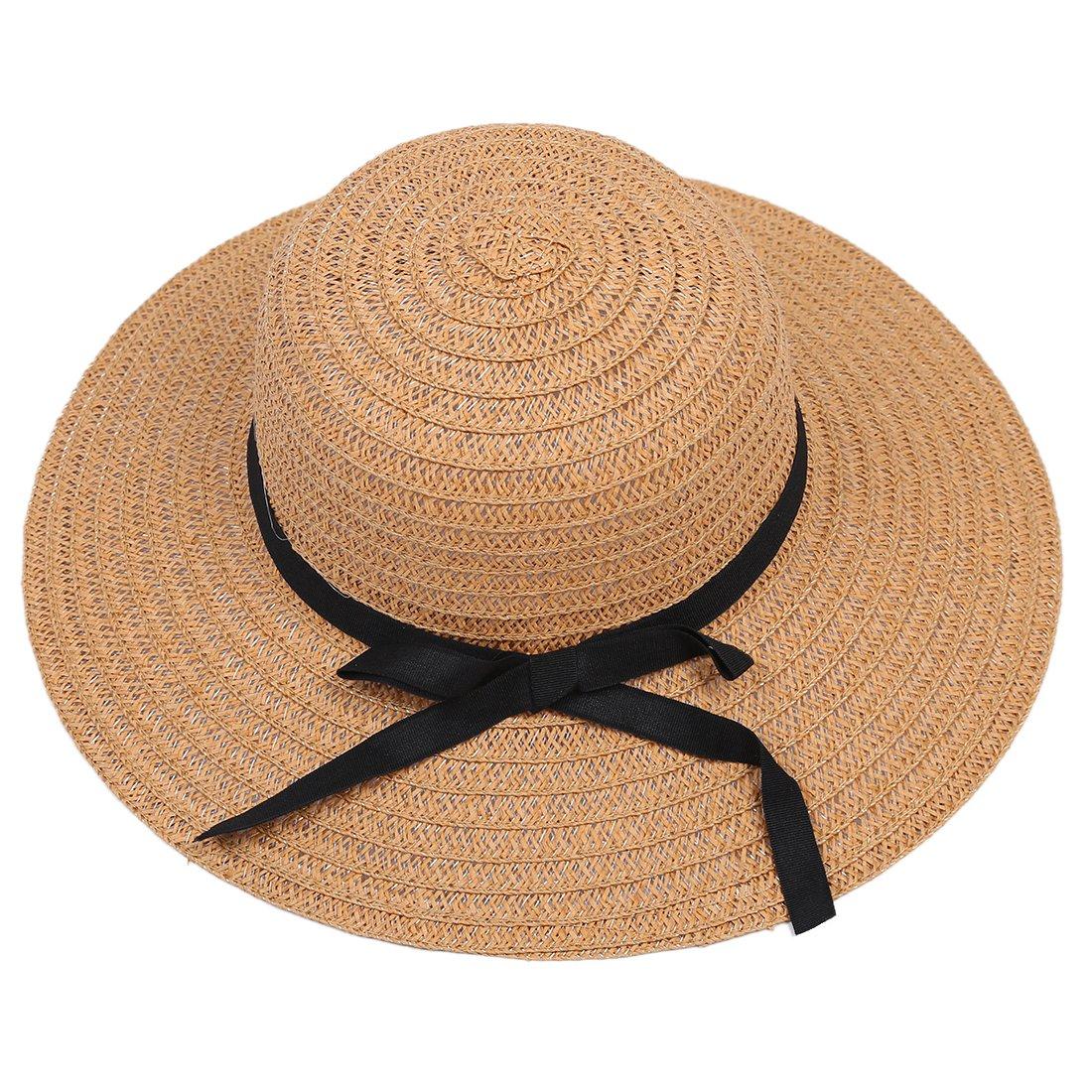 ALWLj Alta calidad de Moda Mujer Señoras Chic Amplios Brim de playa en  verano 8da1b1fa5fd