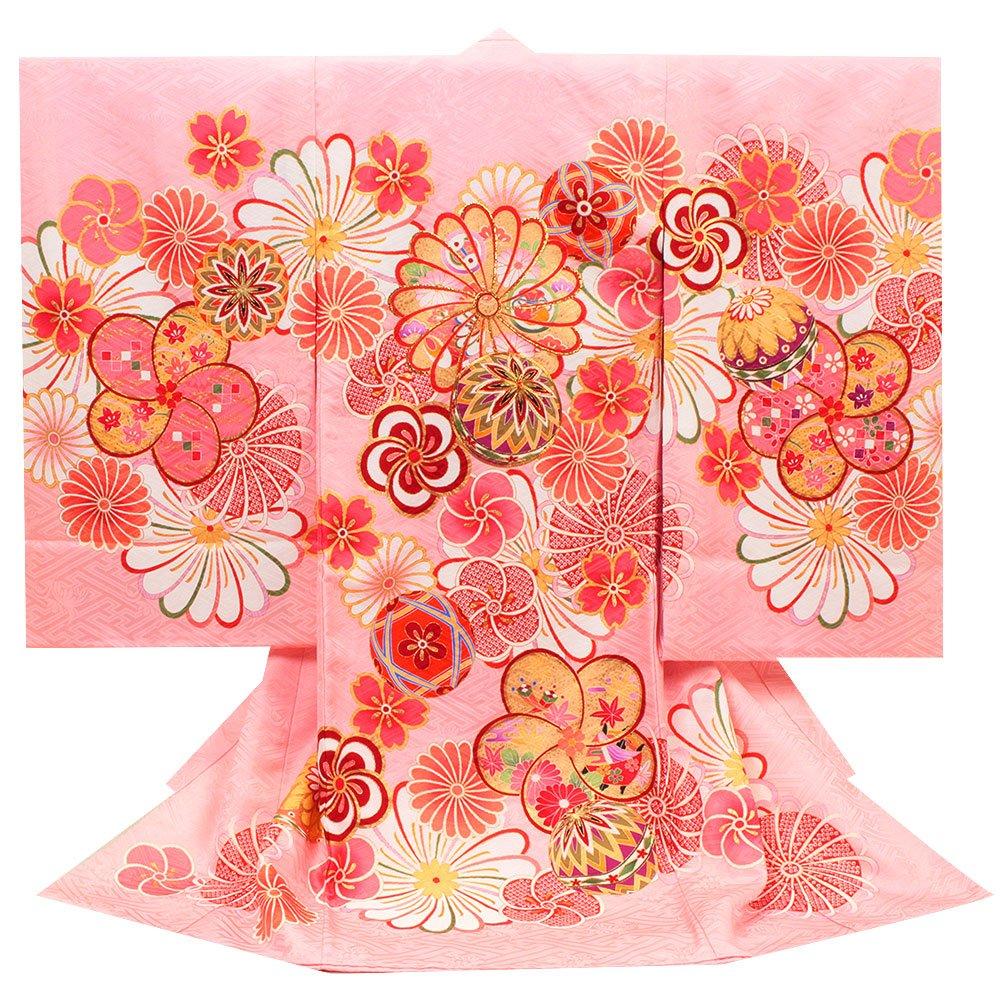 (キステ)Kisste お宮参り 産着 女の子 <お宮参りきもの> 正絹 <ピンク/菊> 8-7-00122   B075CHYVJ9
