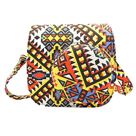 Bohemian PU Leather Protective Camera Bag with Strap for Instax Mini8