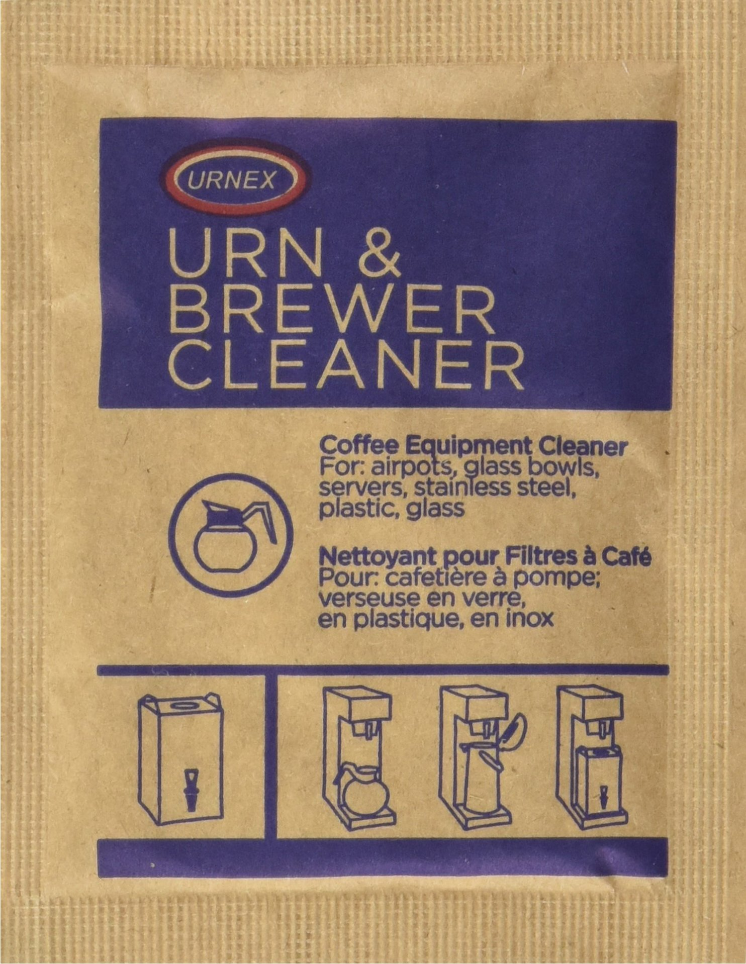 Urnex Original Urn and Brewer Cleaner - 100 [1 Ounce Packets] - Professional Coffee Equipment Cleaner For Air Pot Glass Bowl Server Stainless Steel Plastic Glass by Urnex