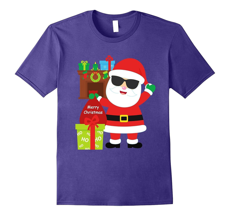 Christmas Santa Summer Sunglasses Gift Shirt Tween Toddler-T-Shirt