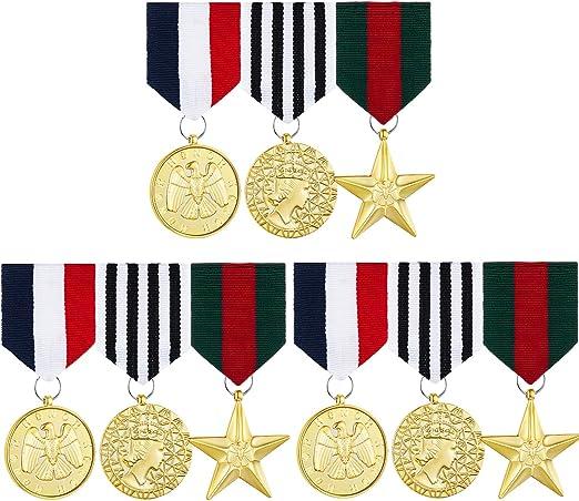 3 Juegos Medalla Insignia Militar de Vestuario Medalla de Héroe de Combate Accesorio de Medalla Militar de Plástico para Disfraz de Chaqueta Abrigo de Hhombres Mujeres: Amazon.es: Hogar