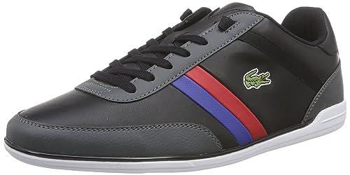 Lacoste Giron TCL - Zapatilla Deportiva de Cuero Hombre, Color Negro, Talla  44.5  Amazon.es  Zapatos y complementos 2bb8719682