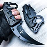 Snake Eye Tactical Everyday Carry Karambit Style Ultra Smooth One Hand Opening Folding Pocket Knife - Ideal for…