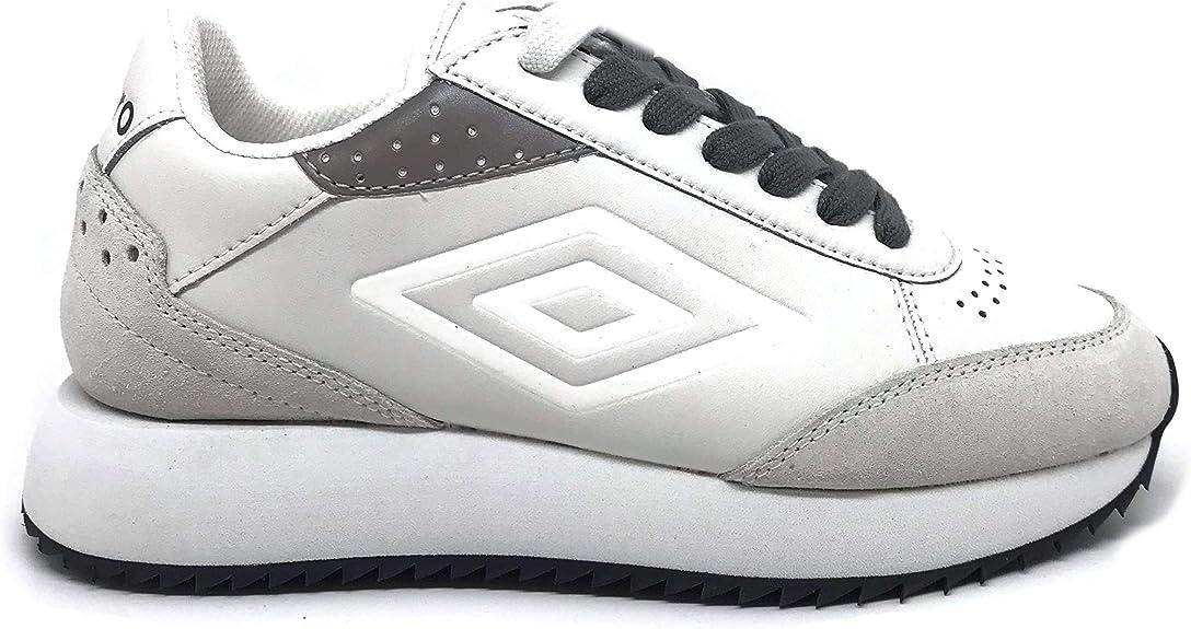 Umbro – U191914B-W Zapatillas de Running para Mujer de Piel Off-White Blanco Size: 41 EU: Amazon.es: Zapatos y complementos