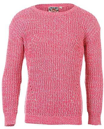 1873b04ef Junior Fille Pull en tricot Grosse Maille en acrylique - Rose - 8 ...