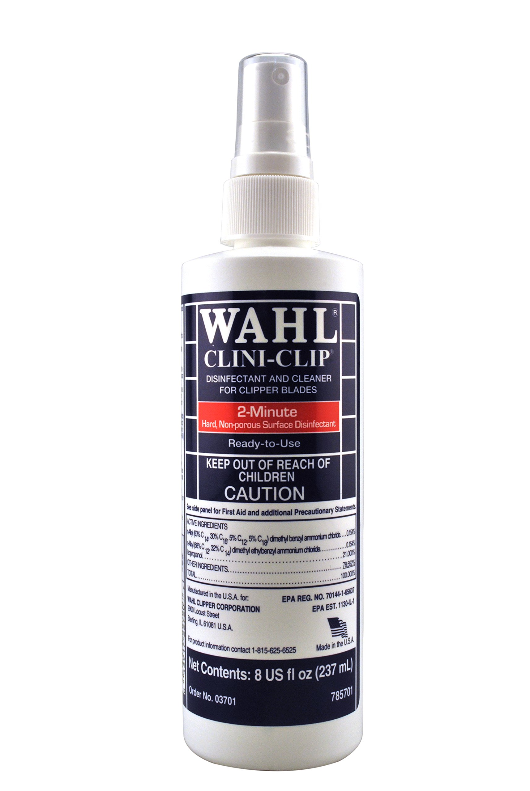 WAHL Professional Animal Clini-Clip Blade Disinfectant and Cleaner Spray (3701-100)