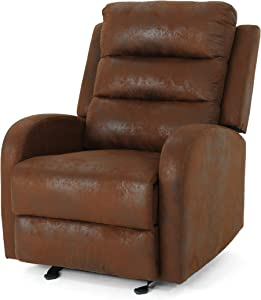 Great Deal Furniture   Flora Classic Microfiber Recliner   in Brown