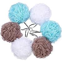 Bath Shower Loofah Sponge Pouf Body Scrubber Exfoliator (Set of 6)