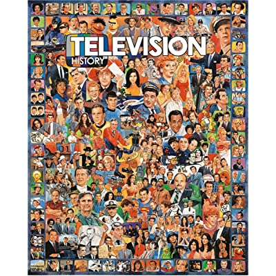 White Mountain Puzzles Television History - 1000 Piece Jigsaw Puzzle: Toys & Games