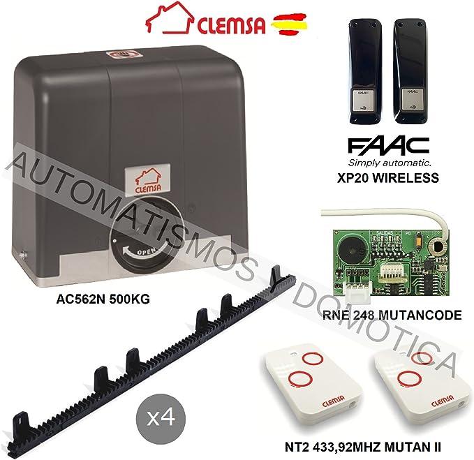 KIT Motor puerta cancela corredera CLEMSA AC562N 500KG, para ...