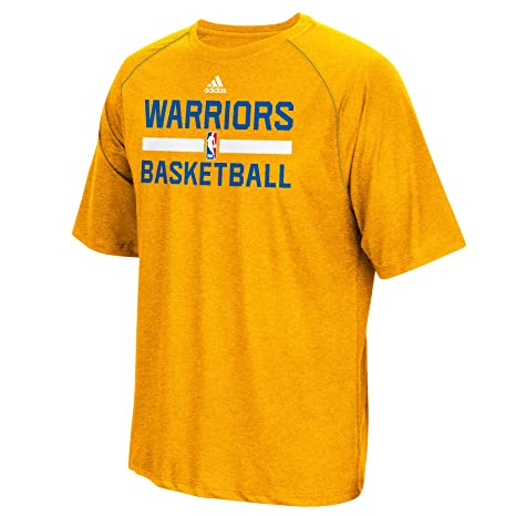 cd6d07778907 Golden State Warriors Gold Adidas Climalite Practice Short Sleeve T-shirt  Medium