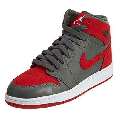 new style 0775e 4c45b Jordan Nike Boy's Air 1 Retro High Premium Basketball Shoe (GS)