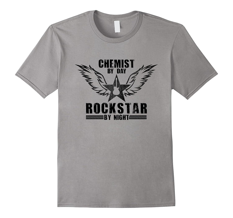 Chemist by Day  Rockstar by Night T-Shirt Black-TD