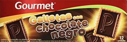 Gourmet Galletas Con Chocolate Negro - 150 g