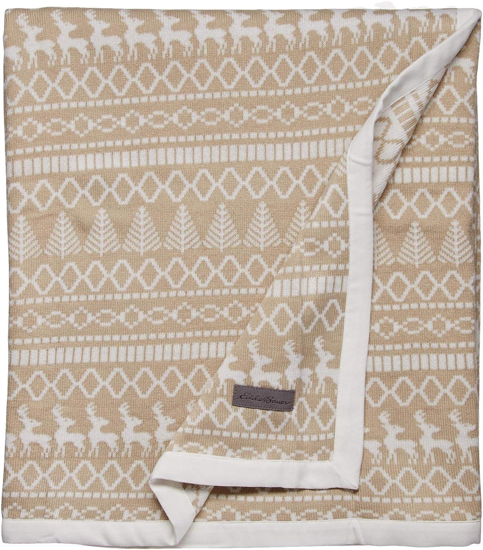 Eddie Bauer Alpine Throw in Oyster, 50x60,