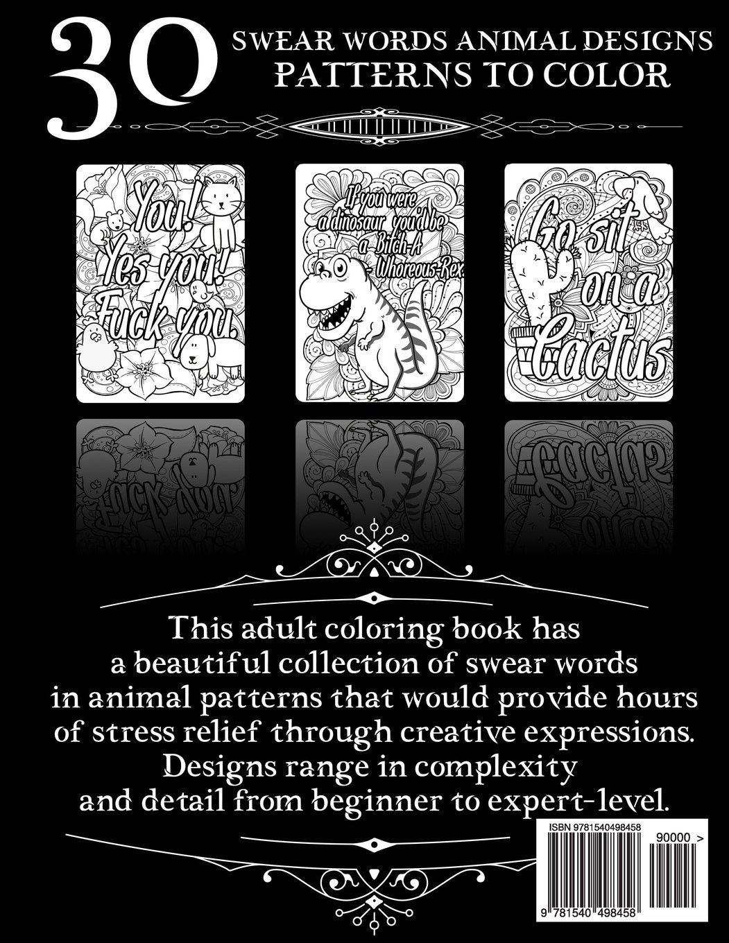 Amazon Coloring Books For Adults Relaxation Swear Word Animal Designs Sweary Book Patterns Fun