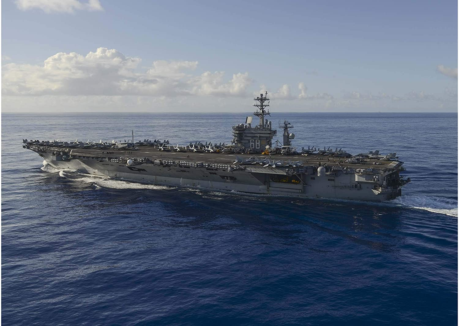 History Prints USS Nuclear Aircraft Carrier Nimitz (CVN 68) transits The Pacific, 17 June 2017-24 x 36 inches
