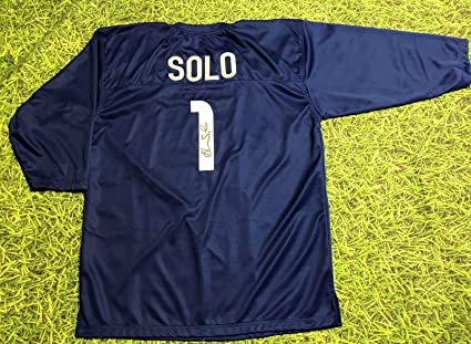 buy online ca2ff c7dab HOPE SOLO AUTOGRAPHED TEAM USA GOALIE JERSEY JSA at Amazon's ...