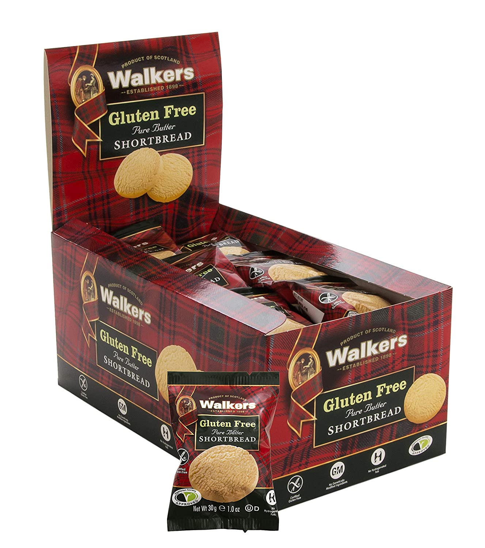 Walker's Shortbread Gluten Free Rounds Snack Packs, 24 Ounce (1023D)