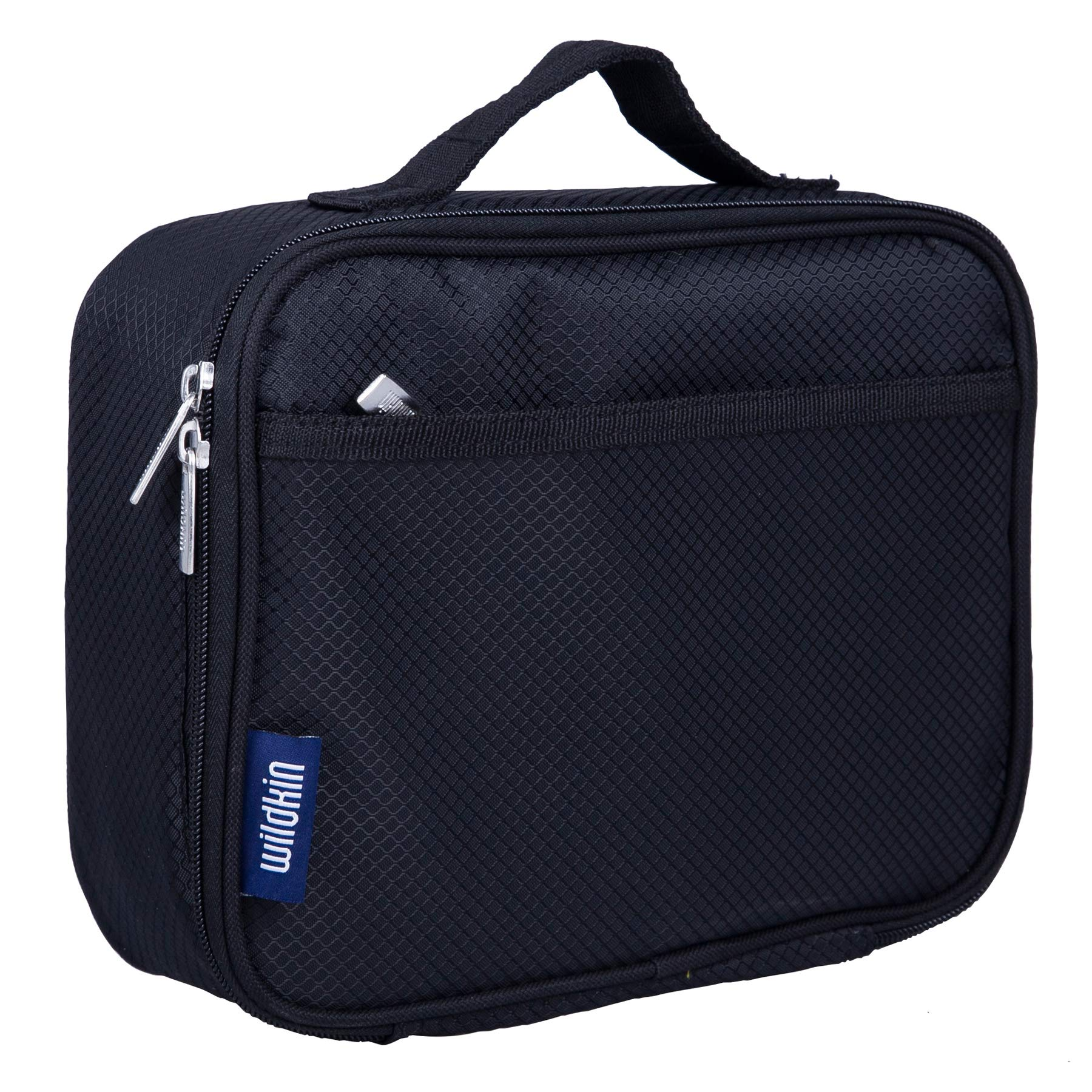 Lunch Box, Wildkin Lunch Box, Insulated, Moisture Resistant, and Easy to Clean with Helpful Extras for Quick and Simple Organization, Ages 3+, Perfect for Kids or On-The-Go Parents – Rip-Stop Black