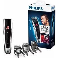 Philips HC7460/15 - Cortapelos con cuchillas de acero inoxidable, 3 peines-guía motorizados, con botones de control…