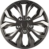 Pilot WH555-16SB-B Universal Fit Spyder Chevy Cruz Style Silver and Black 16 Inch Wheel Covers - Set of 4