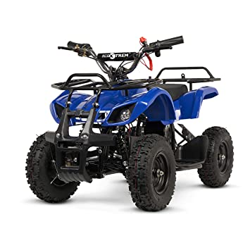 ECOXTREM Quad para niños de Color Azul, eléctrico, Infantil, Motor 800W, batería