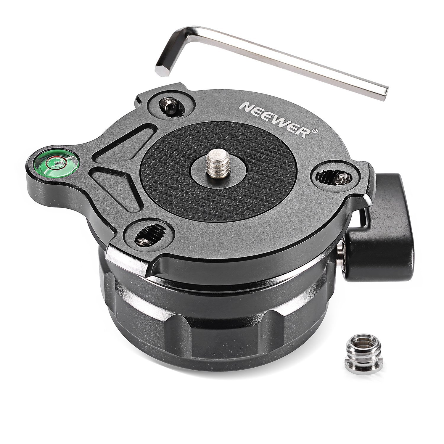 """Neewer Tripod Leveling Base with Offset Bubble Level for Canon,Nikon,and Other DSLR Cameras with 1/4"""" Thread, Tripods & Monopods with 3/8"""" Thread"""