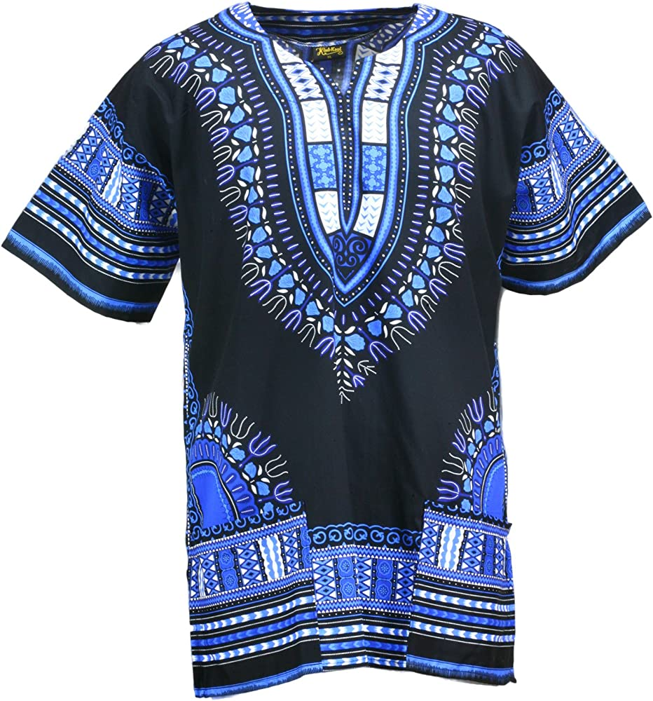 Lofbaz Unisex Child Kids Traditional African Printed Dashiki T-Shirt Tops