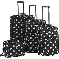 Rockland Luggage Dots 4 Piece Luggage Set