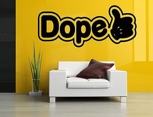 Amazon.com: Wall Room Decor Art Vinyl Sticker Mural Decal Hand Dope ...