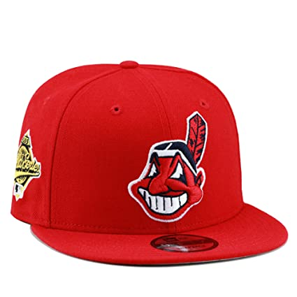 204656aaa1afbf Image Unavailable. Image not available for. Color: New Era 9fifty Cleveland  Indians Snapback Hat Cap ...
