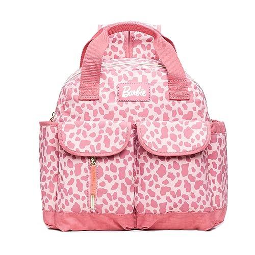 Barbie Mochila práctica de estilo Clásico y Casual Mochila para Mujer BBBP180 # 30x35x12CM (Rosa