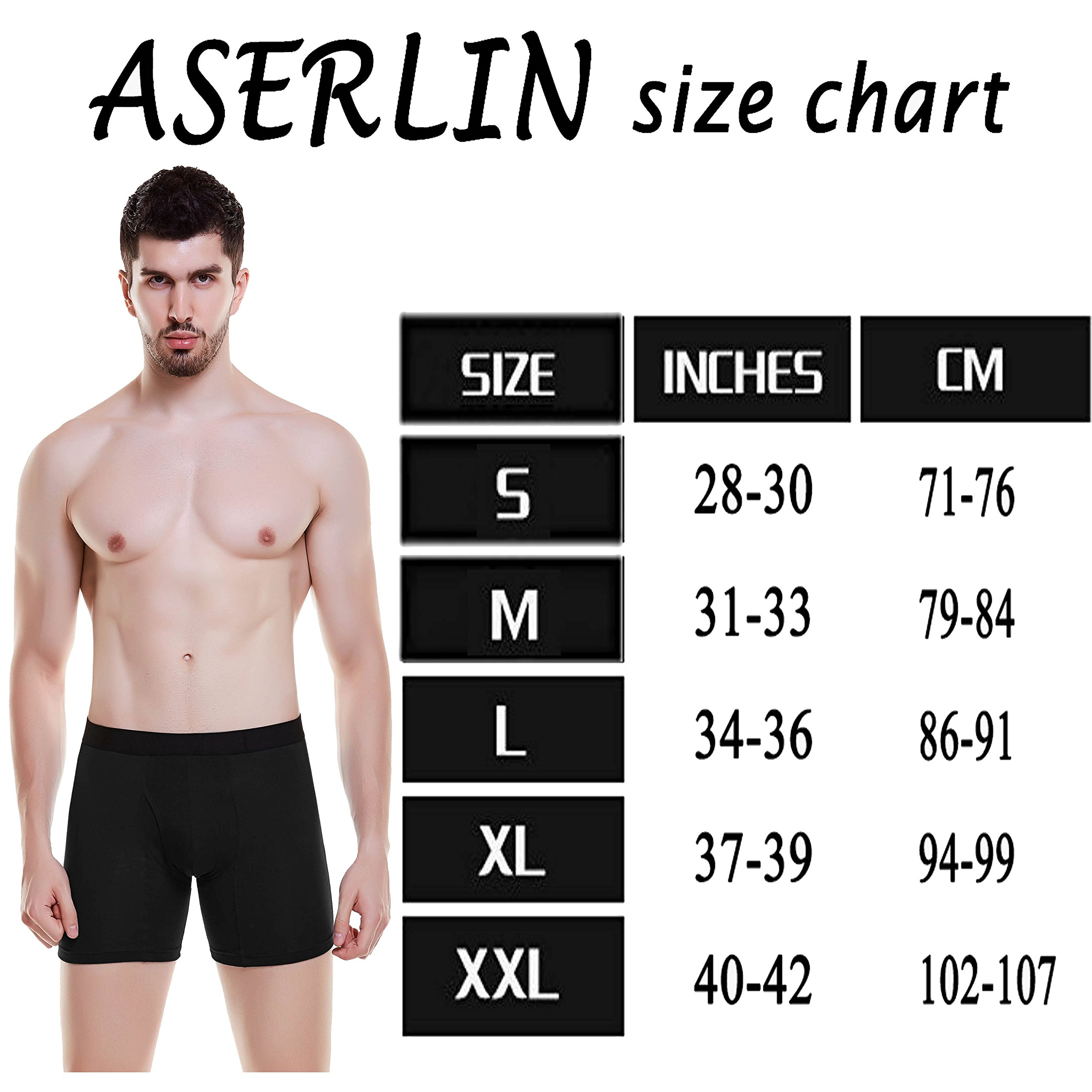 Aserlin Men\'s 2 Pack Regular Legs Underwear Boxer Briefs Cotton Mens Boxer Briefs No Ride-up Underwear Men Pack-A-1B1G-Fly-M