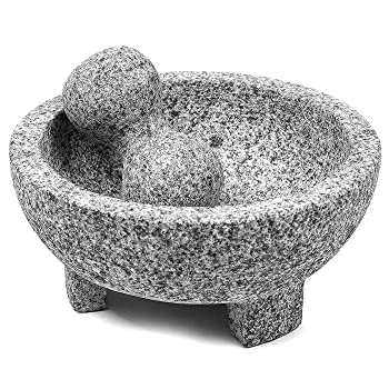 UMIEN Guacamole Bowl Natural Stone Grinder Mortar And Pestle