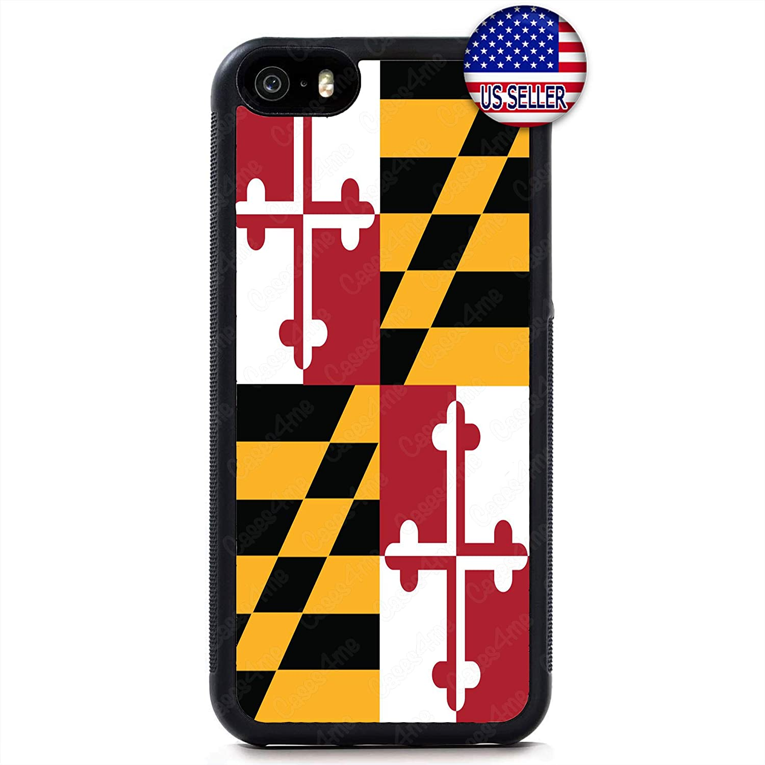 Maryland Flag Old Line State Hard Rubber Slim Custom Protective Case Cover for iPhone X Xs Max XR 8 Plus 7 6