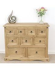 Mercers Furniture Corona Merchants Chest, Pine, Brown, cm