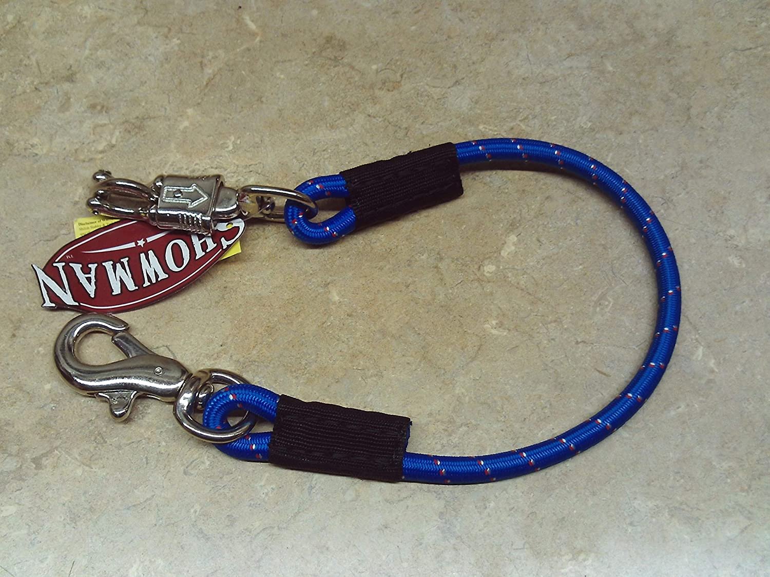 NAVY BLUE Quick Release Safety Trailer Yard Stable Tie Strap Adjustable