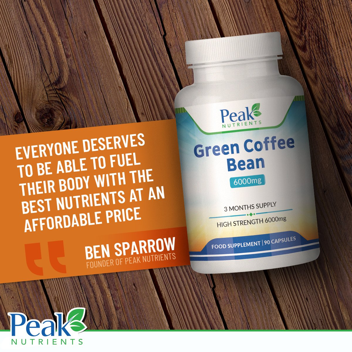 Green Coffee Bean Extract 6000mg, 90 Capsules (3 Months Supply), High Strength For Maximum Results, Weight Management Supplement - Manufactured In The U.K