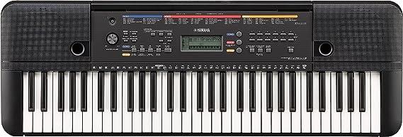 Yamaha PSR-E263 – Clavier électronique avec 61 touches – Instrument de musique compact et léger pour débutants – Noir