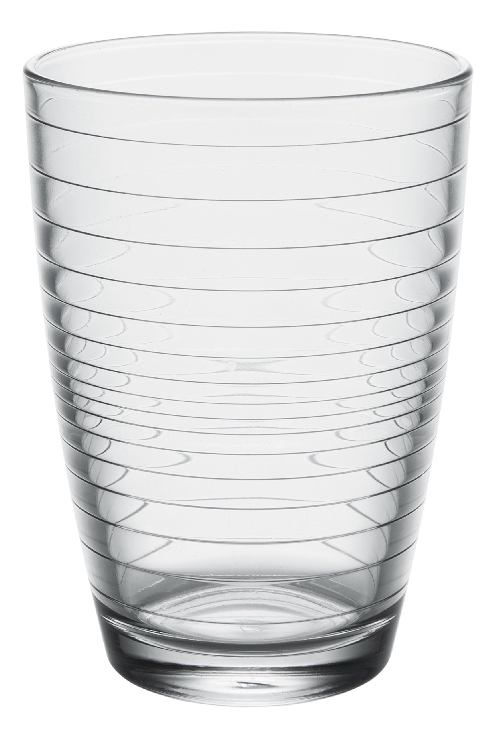 Apollon Modern Clear Glass Tall Iced Tea Cups, Drinking Glasses Water Juice Soda Beverage Tumblers, Set of 6, 14 fl oz